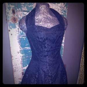 Black lace teacup dress